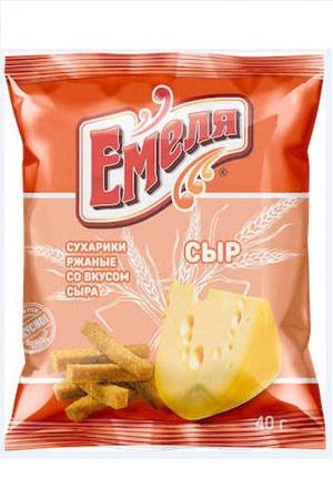 Krekerji z okusom sira Emelja 40g. Rusija z dostavo v Sloveniji