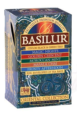 Чай Basilur Oriental Collection смесь из 5ти сортов, 25пак. с доставкой по Словении