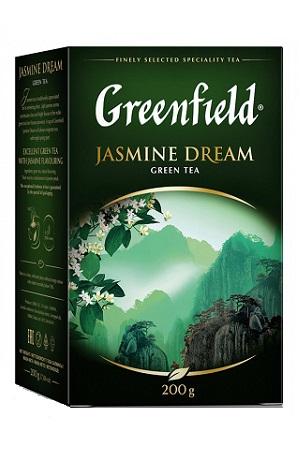 Чай зеленый листовой Гринфилд Jasmin Dream 200г. с доставкой по Словении