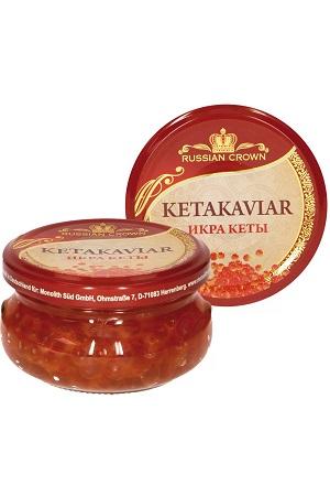 Kaviar kete (družina lososevih) Russian Crown, 100g. z dostavo v Sloveniji