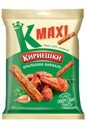 Сухарики Кириешки Maxi со вкусом крылышек баффало 60г с доставкой по Словении