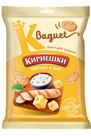 Сухарики Кириешки Baguet сметана и сыр 50г с доставкой по Словении