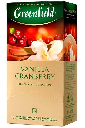 Чай Гринфилд Vanilla Cranberry черный с ароматом клюквы и ванили с доставкой по Словении