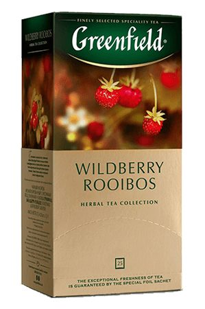 Čaj Greenfield Wildberry Rooibos s koščki gozdne jagode in brusnice 25/1,5g. z dostavo v Sloveniji